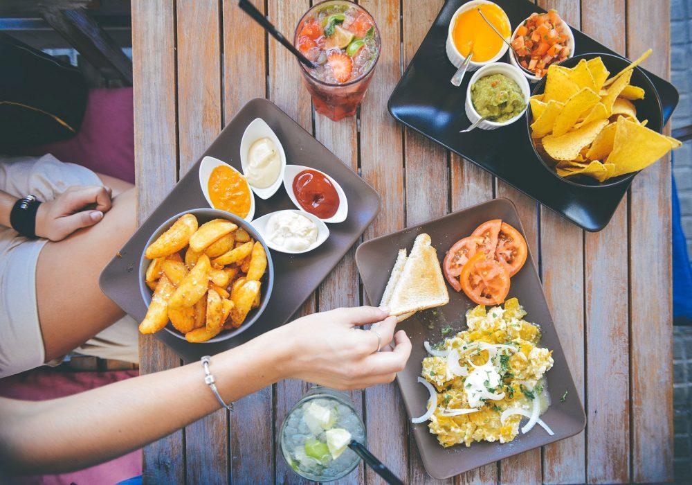 Almoço e tortillas